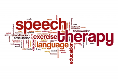 Speech therapy word cloud